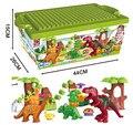 40 Unids/lote Dino Valle Building Blocks Establece Ladrillos Modelo juguetes partículas Grandes Animales Mundo Jurásico Duploe S063