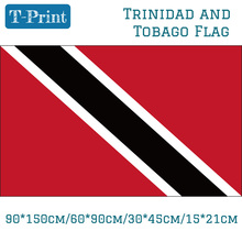 Free shipping 60*90cm/90*150cm/15*21cm Trinidad And Tobago National Flag  Car For World Cup / Day Olympic Games