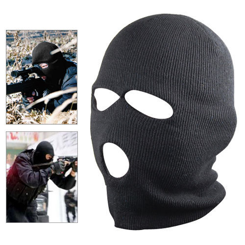 d2e5d09c4fb Knit Balaclava full face ski mask knitted Hood snowboarding Hunting Mask 3  hole