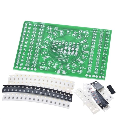 DIY Kit SMD Rotating Flashing LED Components Soldering Practice Board Skill Electronic Circuit Training Suite Electronic DIY Kit Lahore