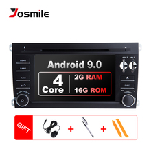 2 Din Android 9.0 Car Multimedia For Porsche Cayenne GTS Radio 2003 2005 2009 2010 955 mm GPS Navigation DVD CD Head Unit stereo car digital music mp3 usb cd changer for becker oem stereo head unit radio for porsche for mercedes benz for ford