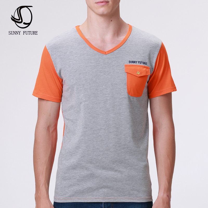 New summer short sleeved cotton men t shirts casual 2016 for Men pocket t shirts