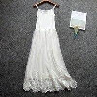 Длинные белые кружевные женские слипы платье-комбинация Длинные Трусы Лето 9824