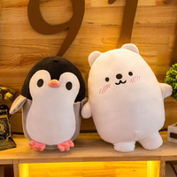 Cute Penguin Plush Toys Kawaii Polar Bear Filled Animals Polar Bear Penguin Air Cushion Pillows Children's Toys Home Decor