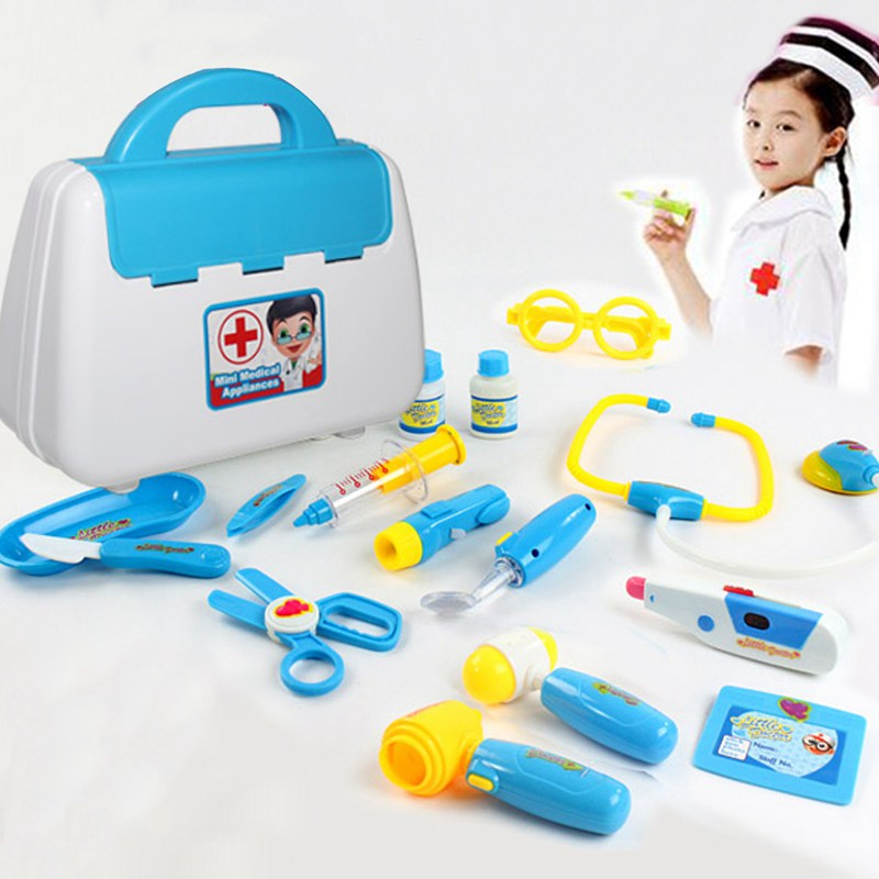 New Baby Kids Funny Toys Doctor Play sets Simulation Medicine Box Pretent Doctor Toys Stethoscope Injections Children gifts classic toys pretend play doctor toys mother garden playsets medicine toys set sxr