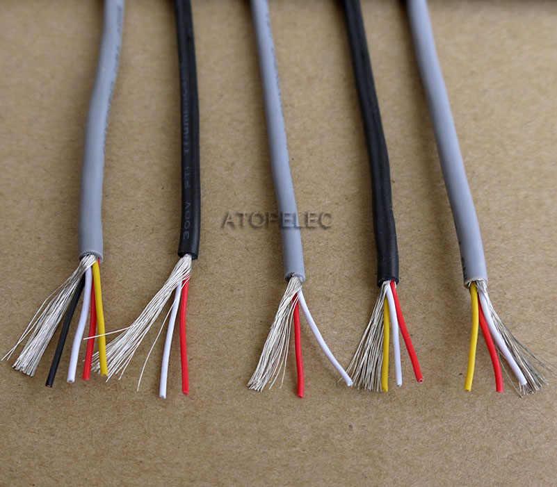 2M UL2547 2547 PVC 2/3/4 noyaux blindés Signal fil casque câble cordon 22AWG/24AWG/26AWG/28AWG