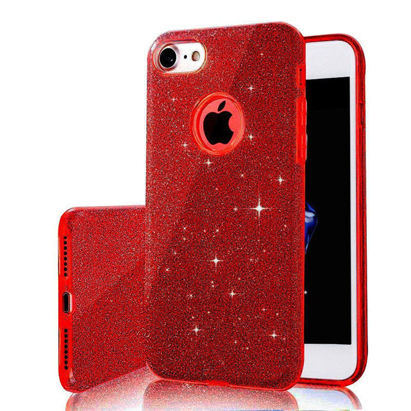 3 Layer Luxury Iphone 6 Bling Glitter Silicone Soft Iphone6s 7 8 Plus 5S SE Transparent Clear TPU Cover