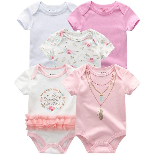 Kiddiezoom детские комбинезоны пижамы для маленьких девочек Дети Bebe Infantil одежда для новорожденных одежда из хлопка Одежда для маленьких мальчиков, Товары для детей - Цвет: baby girl romper5086