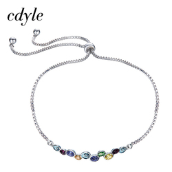 Cdyle Crystals From Swarovski Bracelets Women Bracelet Fashion Jewelry Colorful Series Austrian Rhinestone S925 Sterling Silver