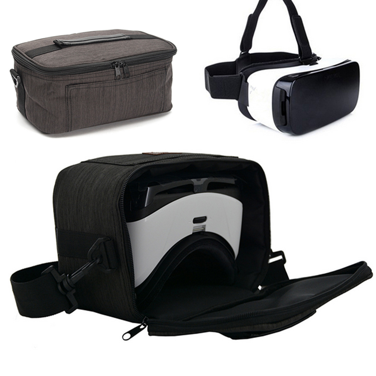 Claite 3D VR Glasses Storage Carrying Travel Case Bag Outdoor 3D Virtual Reality Glasses Bags For Samsung Gear VR 3D Glasses