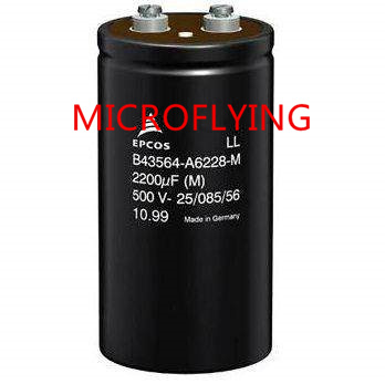 Aluminum Electrolytic Capacitors - Screw Terminal AL-ELKO SCREW TERM 2200UF 450V   B43564-A5228-M  B43564  A5228 1 470uf semiconductor plug electrolytic capacitors set black 120 pcs