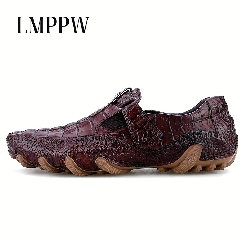 Luxury Brand Men Crocodile Genuine Leather Soft Bottom Octopus Casual Shoes Fashion Breathable Men Loafers Handmade Men Shoes 8 new fashion men luxury brand casual shoes men non slip breathable genuine leather casual shoes ankle boots zapatos hombre 3s88