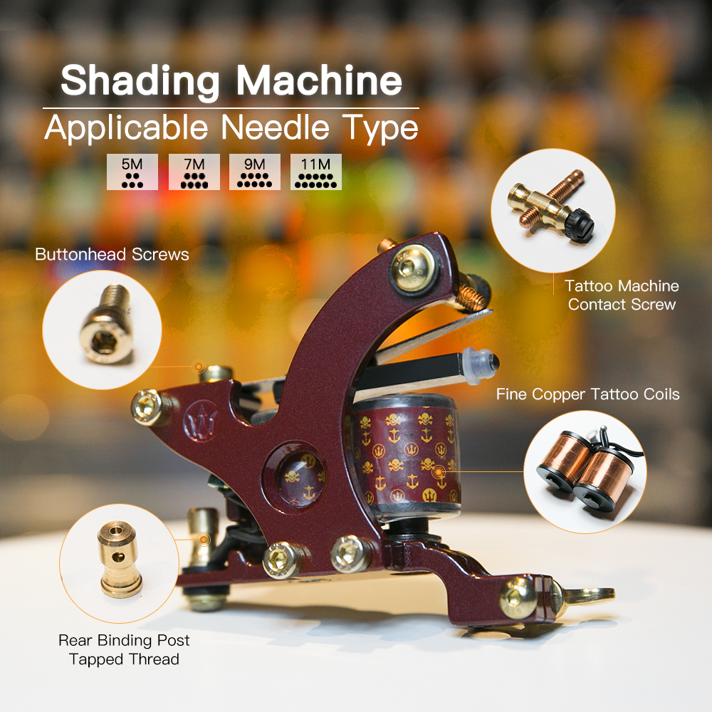 Gratis Billige Tattoo Kit Komplett 2 Tatoveringsmaskiner 6 Farger USA - Tatovering og kroppskunst - Bilde 3