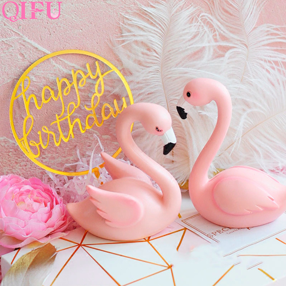 QIFU Flamingo Decoration Tropical Summer Beach Birthday Party Decor Events Luau Flamingo Hawaii Hawaiian Party Supplies Hibiscus 18