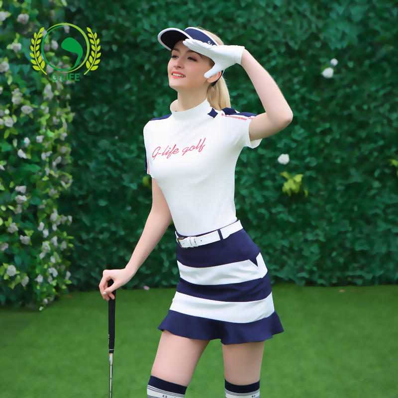 G-life2017 spring and summer golf clothing female set quick-drying sunscreen short-sleeve T-shirt slim female culottes 2017 new summer women golf sports sunscreen shirt long sleeve ice silk arm sleeve shirt top quality 4 color lady golf shirt girl