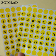 ФОТО zgtglad 1 sheets round number 1 to 102 self adhesive stickers small garment labels tags home office decoration