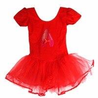 New Child Girls Ballet Dancewear Dress Tranning Dance Skirt Tutu Dress Leotard 4 Size