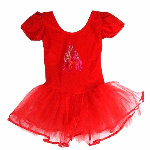 3259158f51 Ginástica Collant Para Meninas Ballet Criança Meninas Roupas Vestido de  Roupas de Dança Collant de Balé