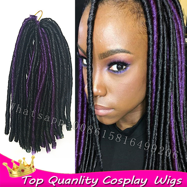 Tissage synthétique souple dreads tresse africaine extensions dreadlock  aiguille crochet tresses extension de cheveux dreadlocks noir