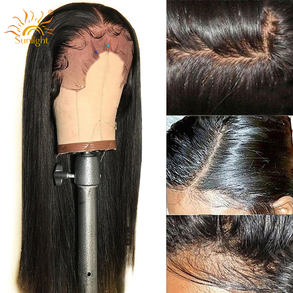 360 Lace Frontal Wig Peruvian Straight Hair Pre Plucked With Baby Hair Remy Lace Front Human