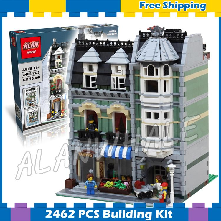 2462pcs Creator Expert Green Grocer Hall Apartments Construct 30005 Model Modular Building Gift sets Blocks Compatible with Lego