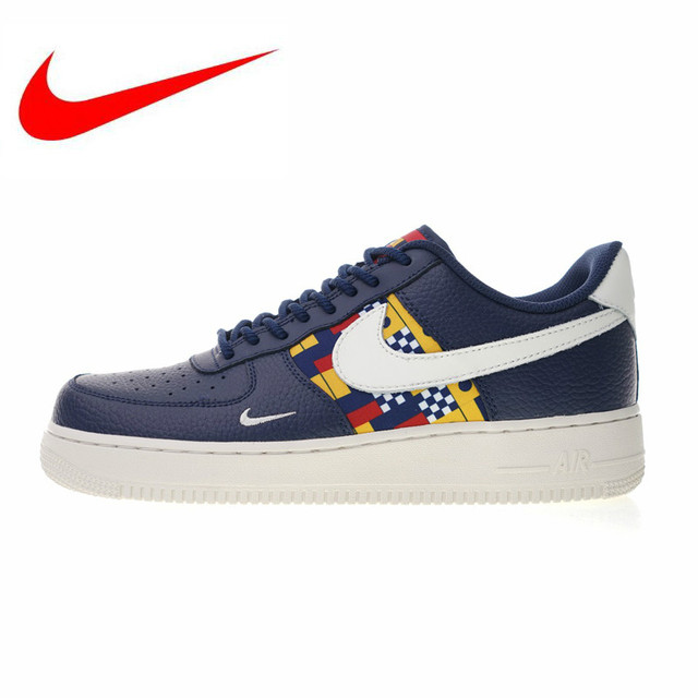 Nike Air Force 1 Sneakers Original Nike Air Force 1 Low Nautical Redux Men and Women Skateboarding  Shoes , Dark Blue, Wear-resistant Breathable AR5394 400