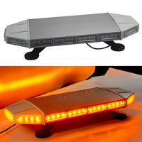 72W Car LED Strobe Light Warning Light Bar for 12V 24V Automobiles Truck Trailer Yellow Flash Lamp HEHEMM