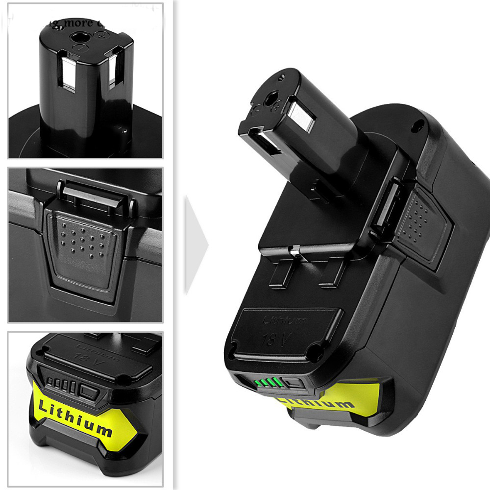 18V 5A 5000mAh Li-Ion Battery For Ryobi P108 Power Tool Rechargeable Pack RB18L40