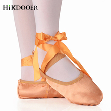 2019 Pointe Shoes Bandage Ballet Dance Girl Woman Professional Canvas/Satin Dancing With Sponge
