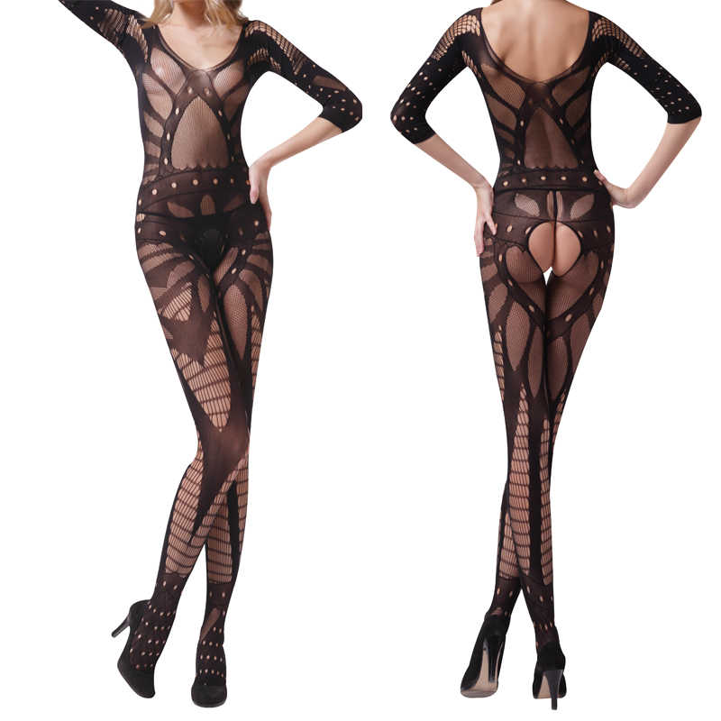 Nieuwe Bodystocking Vrouwen Sexy Lingerie Hot Open Haak Mesh Hollow Out Baby Pop See-through Chemise Bodysuit Erotische Lingerie
