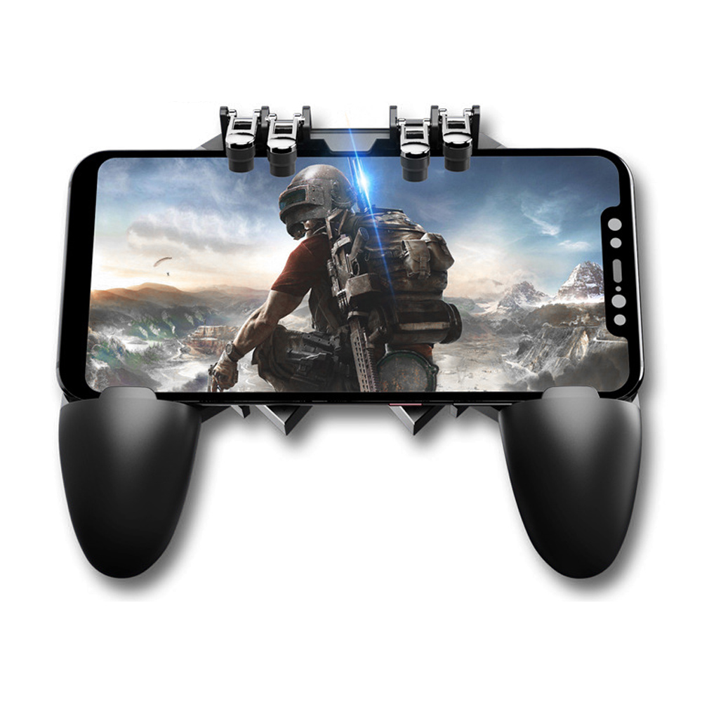 New Mobile Game Controller AK66 Six Fingers PUBG Gamepad Trigger Aim Button L1R1 Shooter Joystick for IOS Android Mobile Phone U image