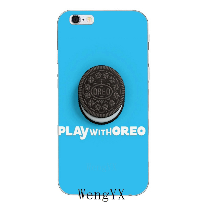 US $1 99 |blue black white Oreo Cookie Soft phone case For Huawei Honor 4c  5c 5x 6x V10 Y5 Y6 Y7 II Mate 8 9 10 P8 P9 P10 Lite plus 2017-in