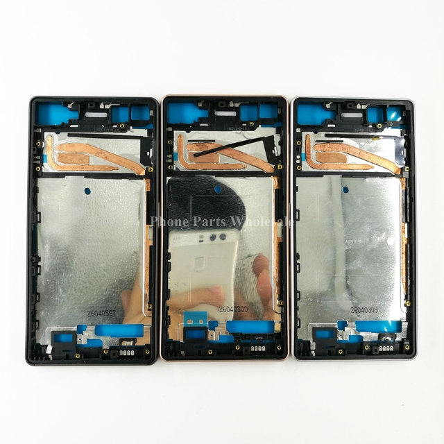 For Sony Xperia X F5121 F5122 Dual Sim Original Middle Front Frame Bezel Housing  LCD Screen Holder Frame+ Sim SD Plug Block Cap