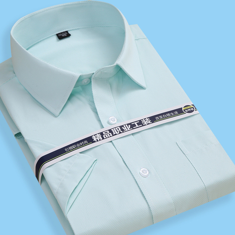 Summer Pure Color Short Sleeve Shirt Men Striped Shirt Plaid Shirt Dress 8XL 7XL 6XL 5XL Large Size Mens Shirts Casual Slim Fit