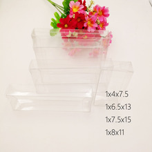 50pcs 1xWxH Pvc Box Clear Transparent Plastic Boxes Storage Jewelry Gift Wedding/Christmas/Candy/Party For Packing