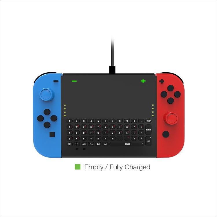 Купить с кэшбэком 2.4G Wireless Gamepad Chatpad Message Keyboard Fingerboard for Nintend Switch NS USB Rechargable Handheld Remote Control Keypad