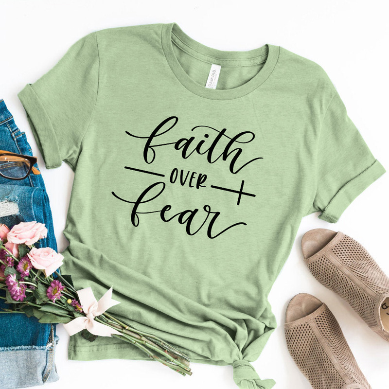 Faith Over Fear Christian T-Shirt 18