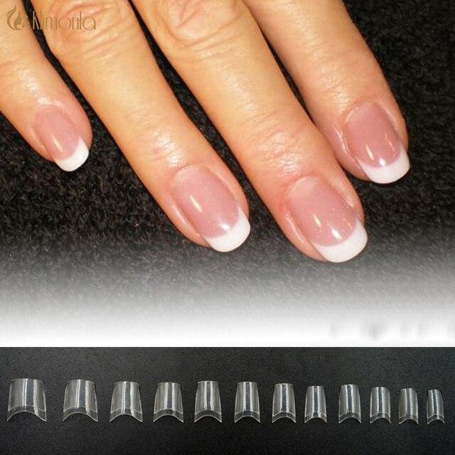 500 unids manicura acrílico corto medio cubierta decorado UV gel ...
