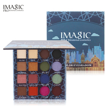 IMAGIC 16 Color Eyeshadow Matte Glitter Shimmer Easy To Wear Eyeshadows Natural Vacation Palette Beauty Makeup