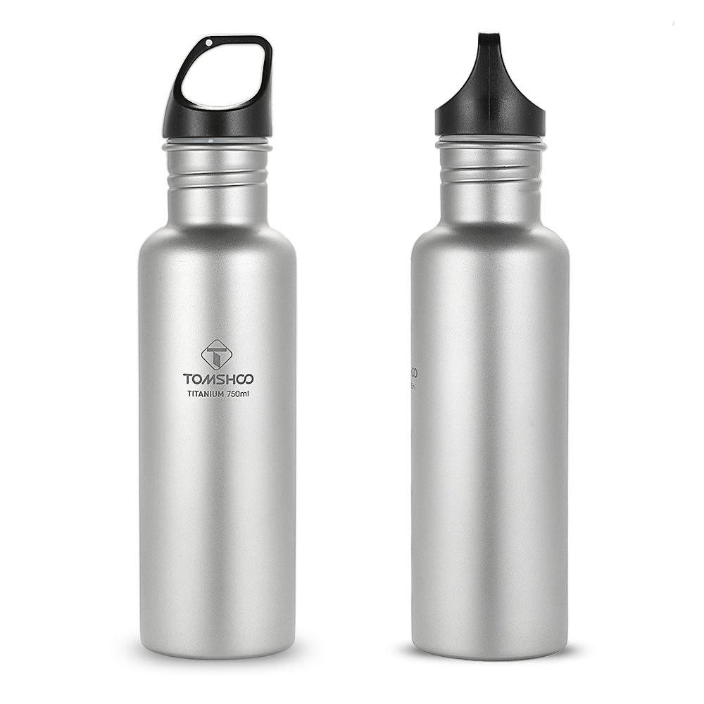 Tomshoo 750 Ml bouteilles d'eau en titane complet Portable adulte ultra-léger Sports de plein air voyage Camping randonnée bouteille avec couvercle supplémentaire - 6