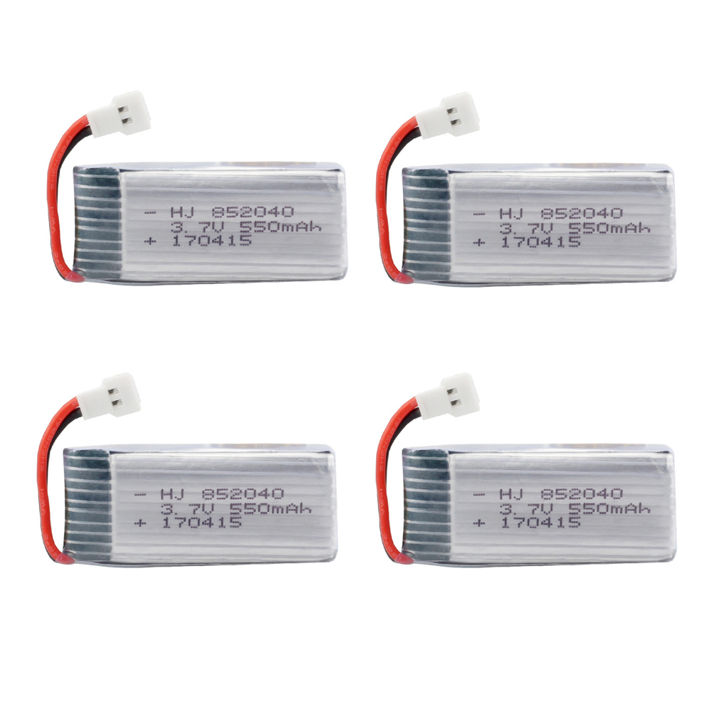 EBOYU 4pcs * 3.7V 550mAh 25c Lipo Battery for JXD 523 523W H43WH RC Quadcopter Drone