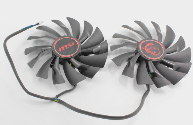 Original Graphics Video Card Cooling Fan For MSI GTX960 GTX950 R9 380 390 380X 390X GAMING PLD10010S12HH 4PIN 12V 0.4A dual fans