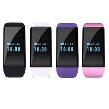 4 цвета D21 Bluetooth Smart Браслет Водонепроницаемый Фитнес трекер Шагомер сердечного ритма Мониторы многофункциональный для смартфонов