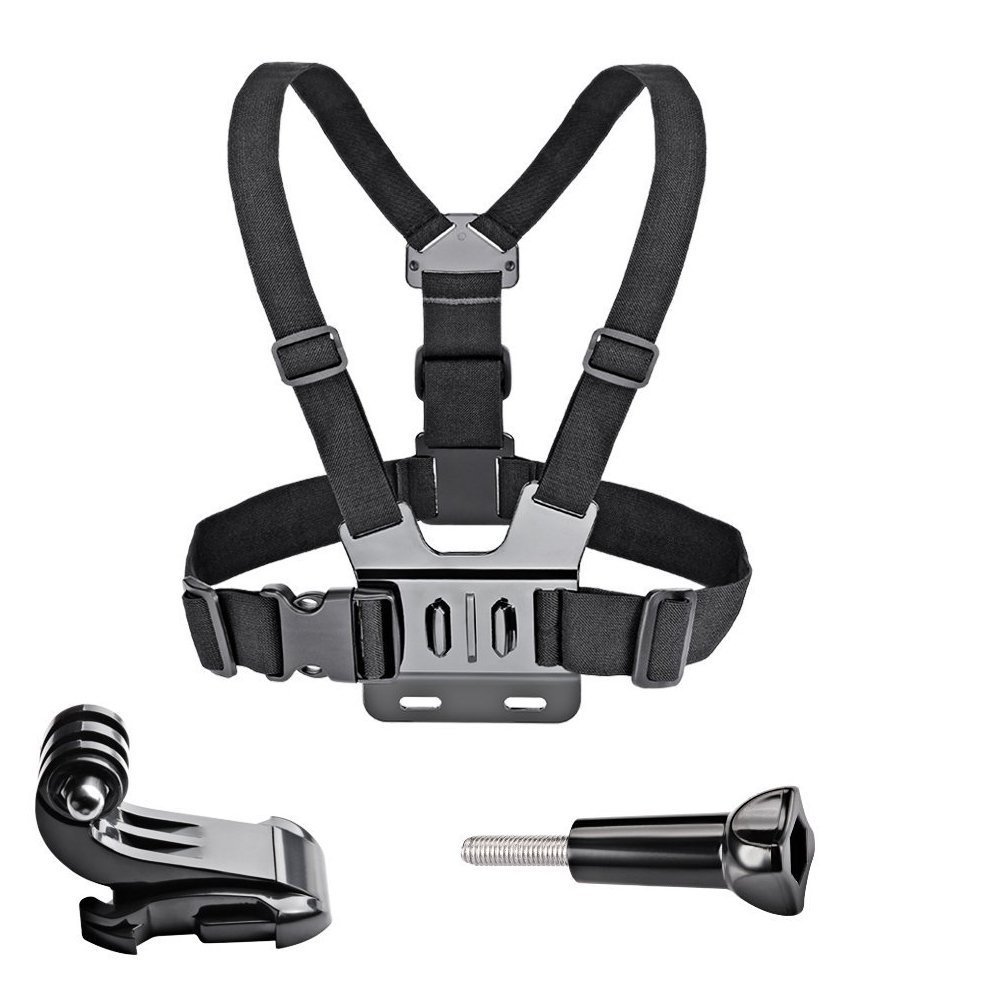 GoPro Accessories Adjustable Chest Mount Harness Chest Strap Belt For GoPro HD Hero6 5 4 3+ 3 1 2 SJ4000 SJ5000 Sport Camera(China)