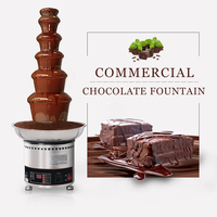 6 Layers Chocolate Fountains 82cm Fountain Height Commercial Chocolate Waterfall Machine With Full Stainless Steel For Party