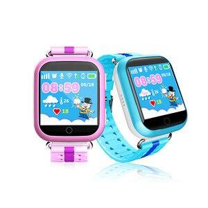Image 1 - 2019 chaud GW200S Q100 Kid montre intelligente GPS Wifi positionnement SOS Tracker bébé moniteur de sécurité Smartwatch pk Q90 Q50 Q528 Q750 montres
