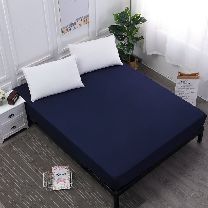Cilected Waterproof Mattress Protector Solid White Bed