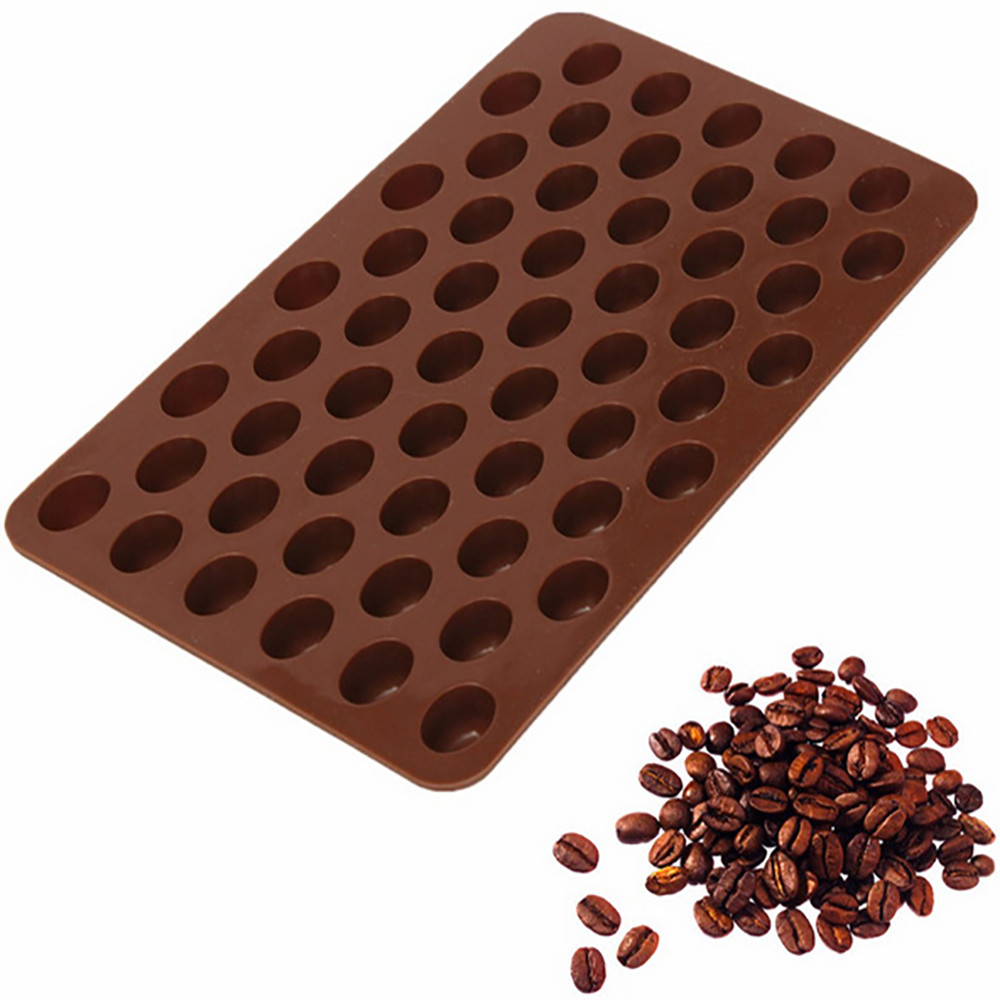 55 Cavity Silicone Chocolate Coffee Beans Mould Candy Cake Sweets Mold Decorating Tools Useful Baking Accessories image