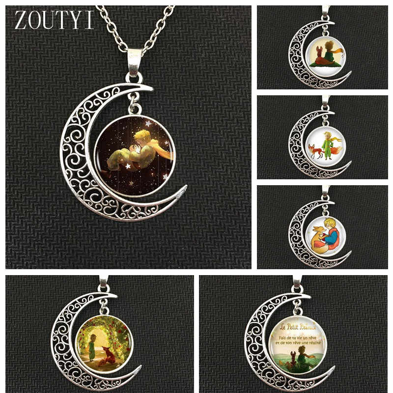 2018 Fashion Hot Charm Little Prince Moon Pendant Necklace, Male and Female Necklaces.