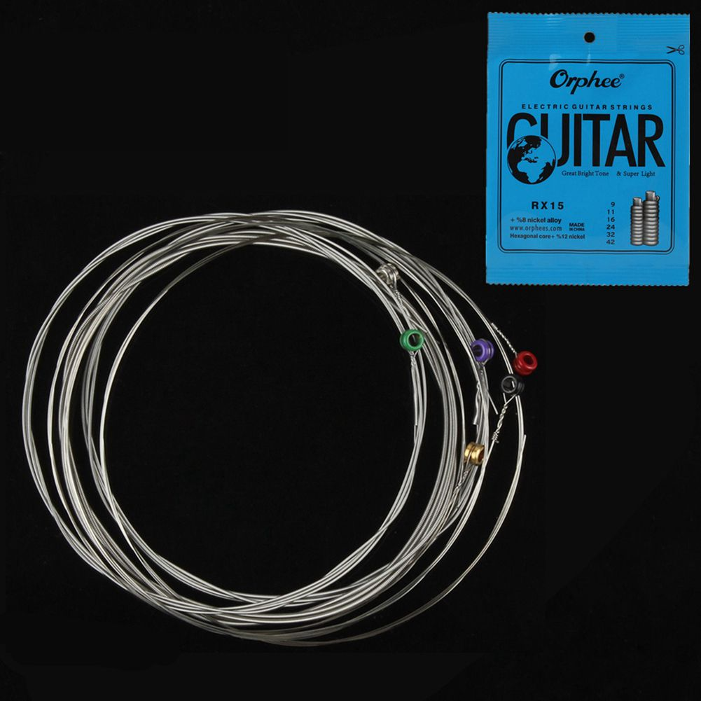 SEWS-Orphee 6pcs/set Electric Guitar String Set Nickel Alloy String Super Light Tension &Great bright tone